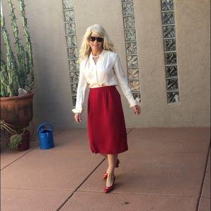 Vintage red midi skirt